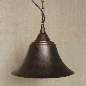 Antique Copper 1-Light Cone Indoor Swing Pendant Lighting