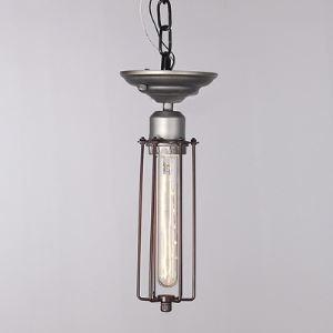 Industrial 1 Light Silver Open Cage Mini Pendant