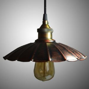 Weathered Copper 1 Light Mini Barn/Warehouse Pendant