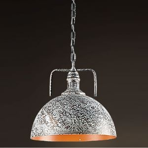 White Oil 1-Light Dome Shade Pendant Lighting in Industrial Style