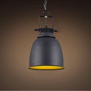Single Light Down Lighting  Pendant in Black Finish