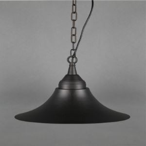 Olde Pewter One Light Barn Pendant with Bell Shade