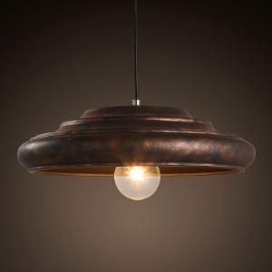 16'' Wide Industrial Indoor Pendant Lighting with Metal Shade