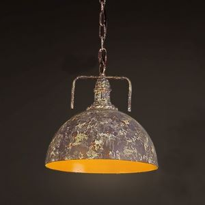 12'' W Single Light Down Lighting Pendant with Purple Dome Shade