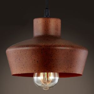 12 Inches Wide Old Copper Single Light Pendant