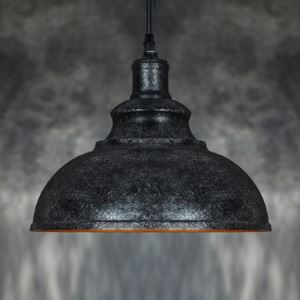 12 Inches Wide Rust Iron Single Light Barn Small Pendant Lighting