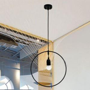 Rust Iron Single Light 12'' Round Metal Indoor Pendant