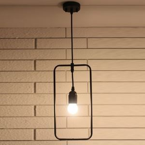 6'' Wide Industrial Rectangular 1 Lt Pendant Light