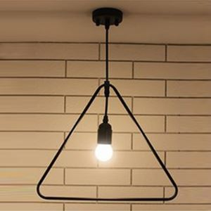 14'' W Rust Iron Single Light Triangle 1 Lt Hanging Pendant