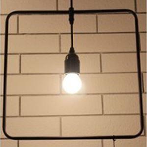 13'' Width Industrial 1 Bulb Square Pendant Lighting
