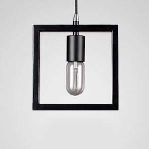 Satin Black 1 Light Square Mini Interior Ceiling Lamp