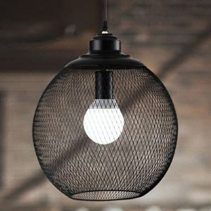 Industrial Globe Mesh 1 Light Mini Pendant Lighting
