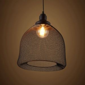 Industrial Single Light Matte Black Foyer Pendant Light