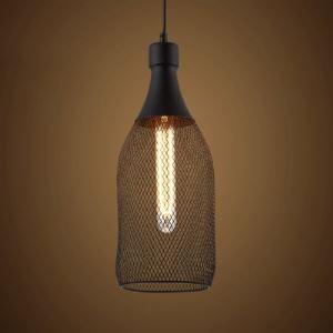 17'' Tall Matte Black Bottle Shape 1 Light Small Foyer Pendant