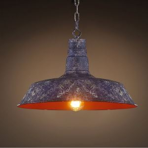 14'' Wide Purple Old Iron 1-Light Pendant in Industrial Style