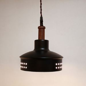 Black Finished Loft Pendant in Vintage Style