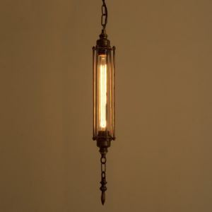 23'' H Steam Punk Single Light  Hanging Pendant Light in Antique Copper Finish