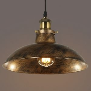 Antique Copper Single Light Pendant Light in Industrial Style