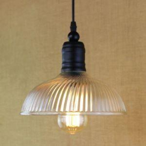 Satin Black 1 Light Simple Style Bowl Glass Shape Mini Pendant