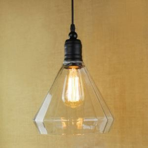 8 Inches Wide Simple Industrial Style 1 Light Pendant with Clear Cone Shade