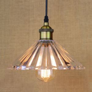 10'' Wide Single Light Mini Pendant with Cone Glass Shade