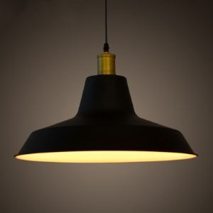 Industrial Style Pendant Light One Light 16 inches Wide Warehouse Shade Pendant Light