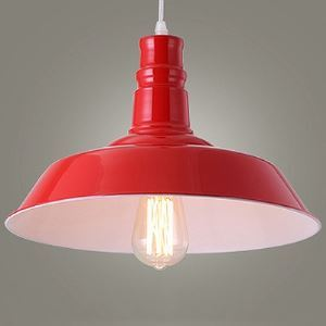 10 Inches Wide Pink Finish Warehouse Shade Industrial Pendant Light