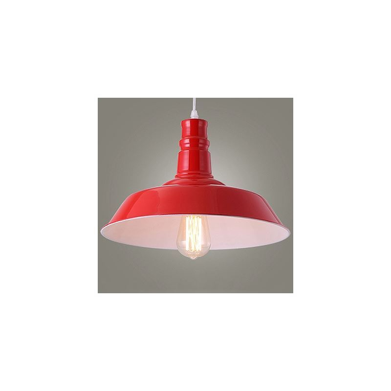 Image of 10 Inches Wide Pink Finish Warehouse Shade Industrial Pendant Light