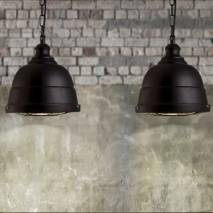 Matte Black 9 Inches Wide Mini Pendant Light