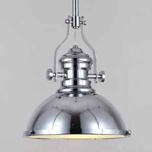 12 Inches Wide Single Light Chrome Barn Pendant Light