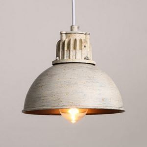 Mottled Rust Single Light Mini Pendant Light in Bowl Shape