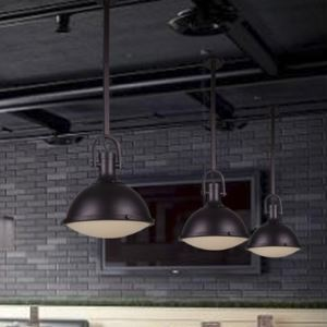 Dark Purple Barn Warehouse 1 Light Pendant Light