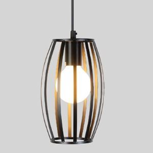 Matte Black 1 Light Cylinder Mini  Pendant Light