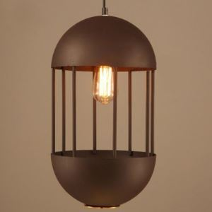 10'' W Industrial 1-Light Indoor Pendant with Oval Cage