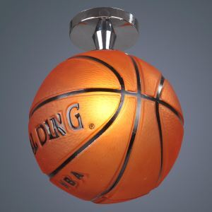 (In Stock) Modern Semi Flush Mount Ceiling Light with Basketball Feature