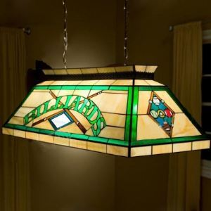 Billard Pool Table Lamp Stained Glass Tiffany 2-light Pendant Lighting
