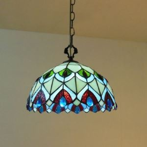 12 Inch Stained Glass Tiffany Two-light Dinning Room Hanging Pendant