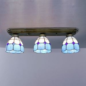 Ceiling Toward 24 Inch Semi Flush Mount Ceiling Light  in Tiffany Stained Glass Style