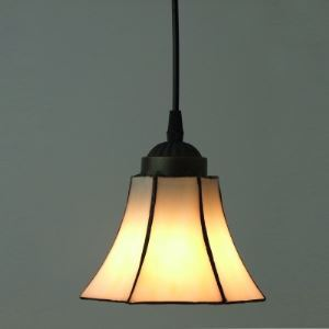 Tiffany Pendant Light White Bell Shade Stained Glass Tiffany One-light Mini Pendant Lighting