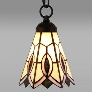 Flower Bell Shade 8 Inch Wide Tiffany Mini Pendant Light