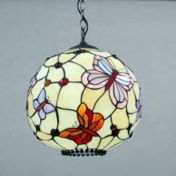 Globe Shape Butterfly Pattern 12 Inch Hanging Pendant Lighting in ...