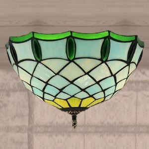 Ambient Lighting 12 Inch Flush Mount Ceiling Fixture in Tiffany Stained Glass Style