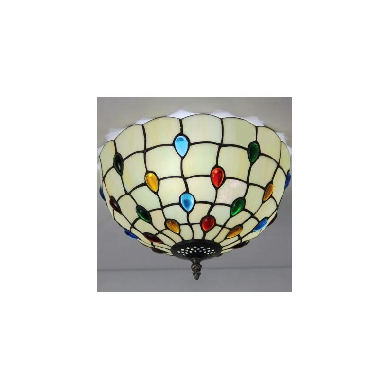 white bowl shade 12 inch flush mount ceiling light in. Black Bedroom Furniture Sets. Home Design Ideas