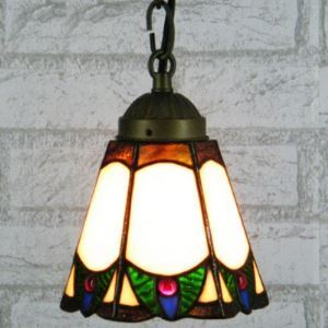 Mini Exotic Country Style 5 Inch Wide Tiffany Hanging Pendant Light
