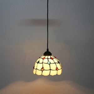 Stone Embedded One-light Tiffany Mini Pendant