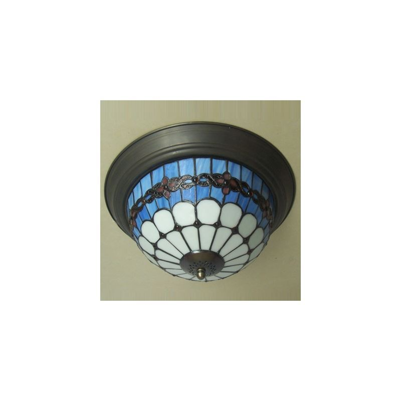 traditional 12 inch flush mount ceiling light in tiffany. Black Bedroom Furniture Sets. Home Design Ideas