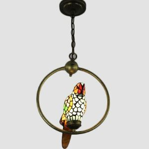 Lovable Parrot Pendant in Tiffany Style