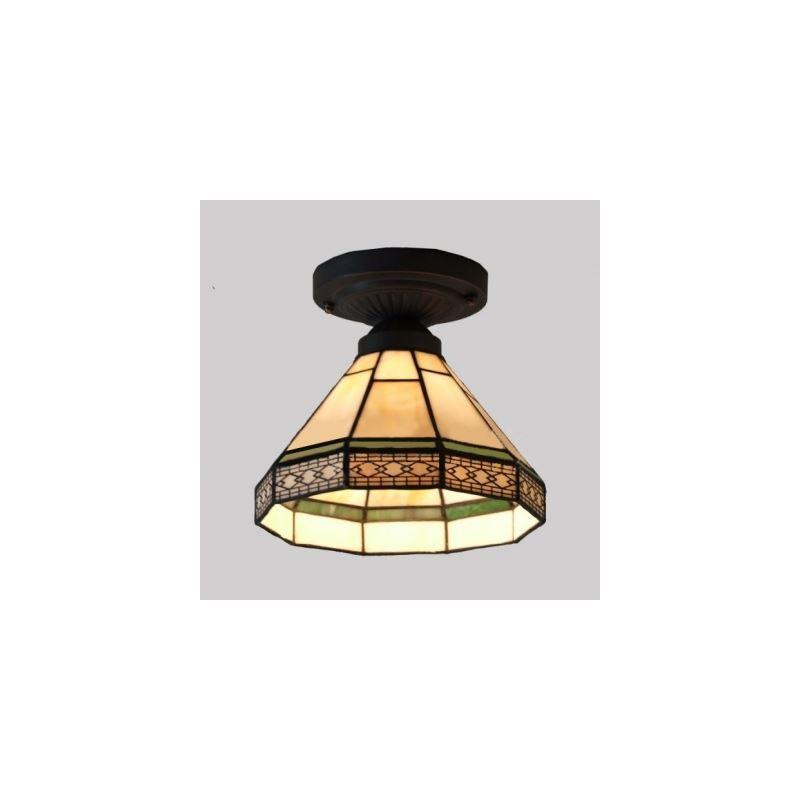 geometric pattern 8 inch mini semi flush mount ceiling. Black Bedroom Furniture Sets. Home Design Ideas