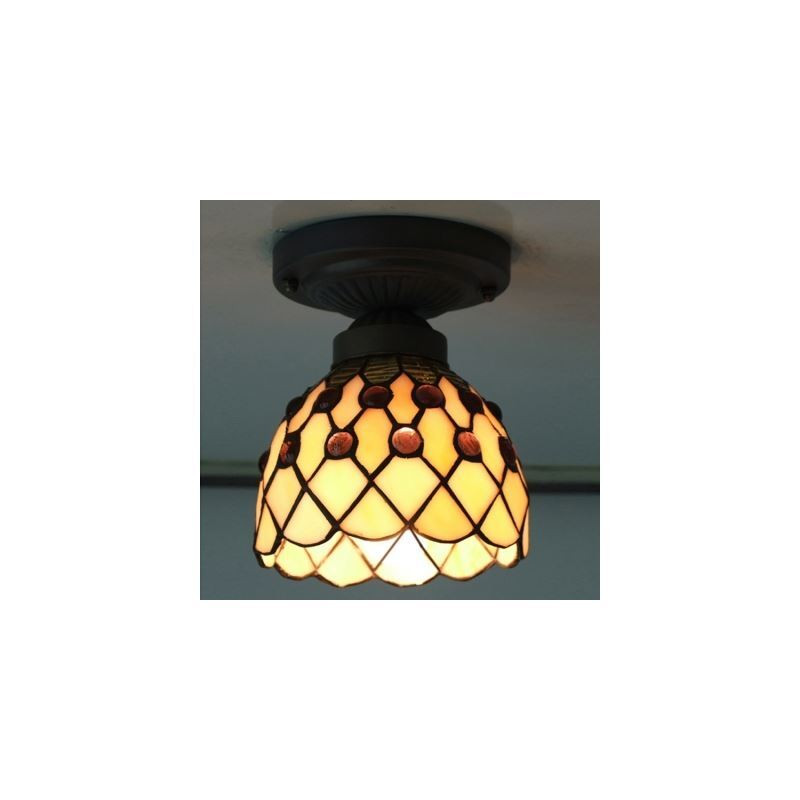 6 inch mini semi flush mount ceiling light in tiffany. Black Bedroom Furniture Sets. Home Design Ideas