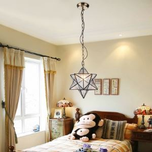 Diamond Shape Tiffany Pendant 30cm One Light